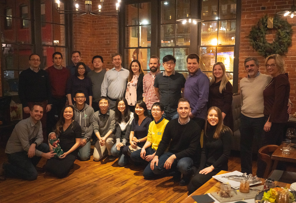 Members of the Lightelligence team and their families at the 2018 holiday party