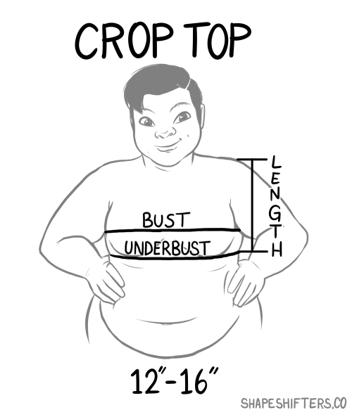 Image: Crop Top Measurement Guide