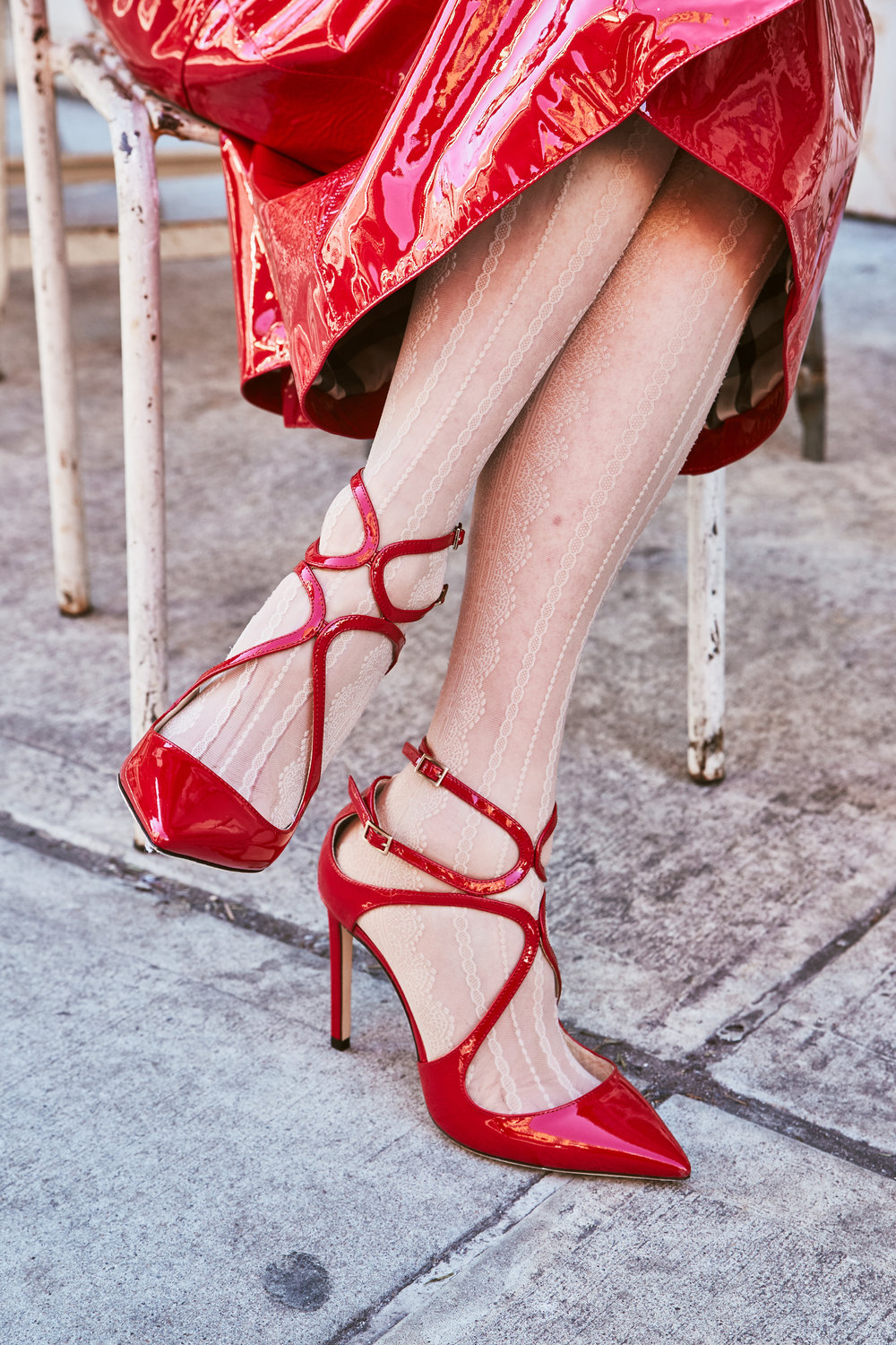619e4650f61 Feel the love in these Jimmy Choo Lance Red Patent Leather Strappy Sandals -