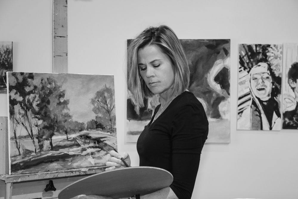Teaching - Teaching Recreational Art Therapy at Mount Vernon Hospital, Plein Air,Still Life and Large Scale Abstract workshops, fundraisers.