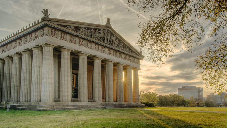 The Parthenon in Nashville, Tennessee.