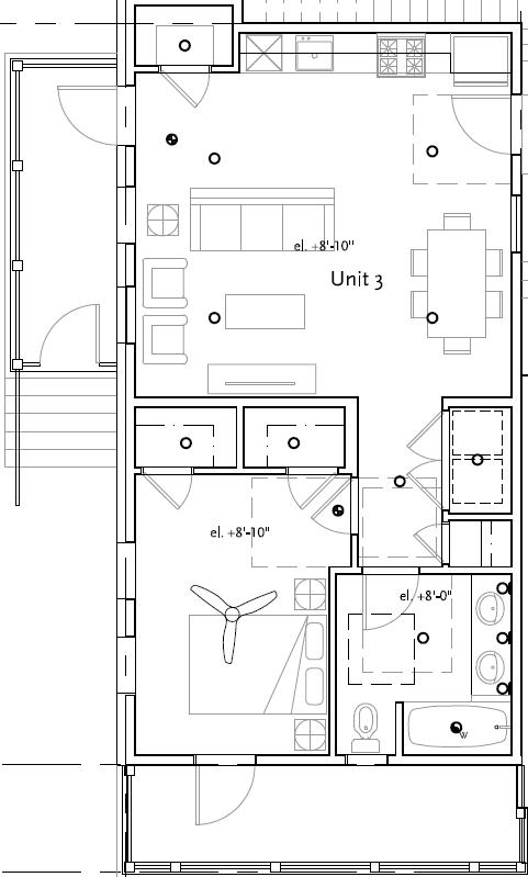 Unit 3 - 1 Bd - 879 sf