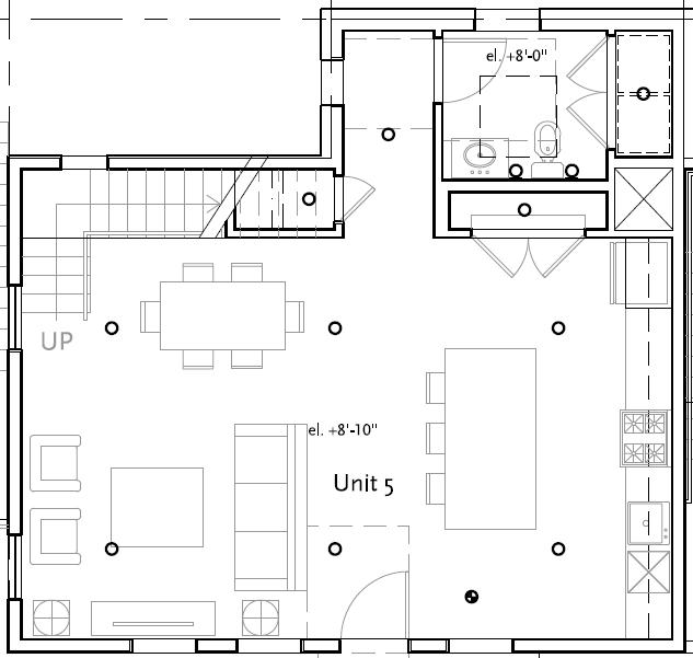 Unit 5 - 2 Bd - 1489 sf