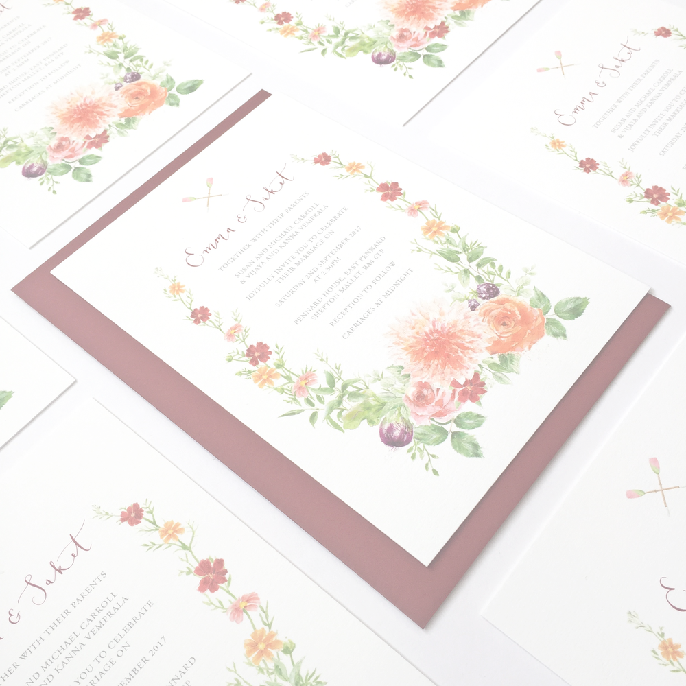 THEWEDDINGCOLLECTION - Pre-designed stationery suites by artist & calligrapher Suzie Foster