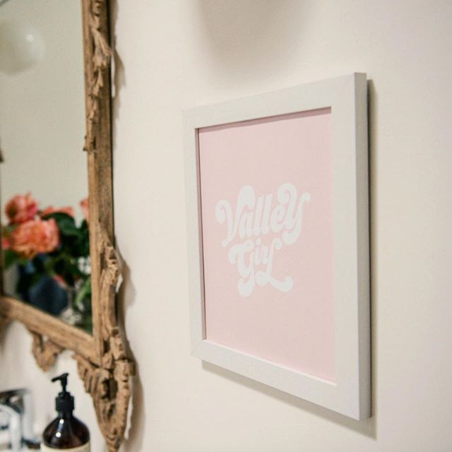 Valley Girl art print in blush now available 💄 . . . . . @pilarvaltierra  #colormehappy #thatcolorproject #myunicornlife #hellocolor #fromabove #californiadreaming #discoverla #pursuepretty #abeautifulmess #makersmovement #dslettering #handlettering #typographyinspired #typematters #typespire #handtype #letteringlove #ilovelettering #modernlettering #letteringart #letteringdaily #letteringco #letteringartist #letteringdesign #togetherweletter #strengthinletters #madeinla #valleygirl #feelslikesunshiny #sunshinypaper