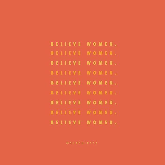 #believewomen