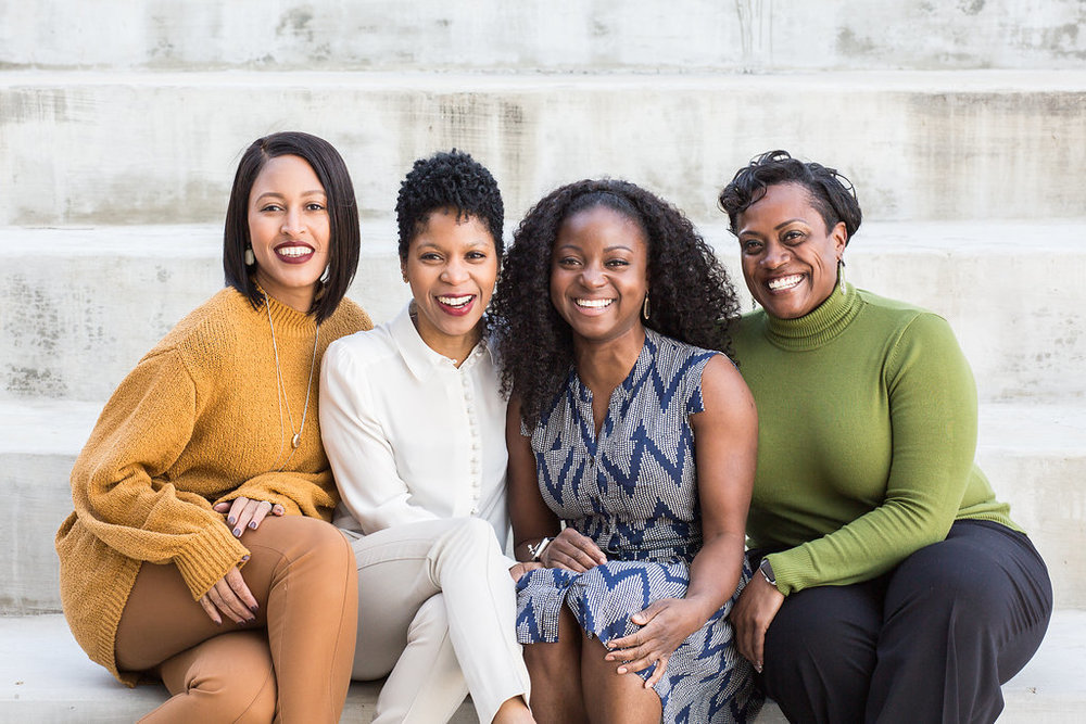 The Jealous Vegan Creative Team   Jendayi Jackson, April Cunningham, Lisa Carter, & Jennifer Hundley (from left to right)   - Read our bios here