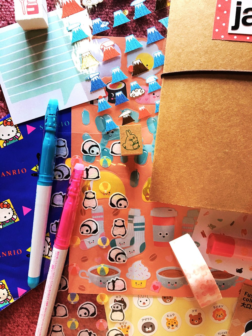 THE FUNKY FRESH / JAPAN TRAVEL JOURNAL + KAWAII STATIONARY