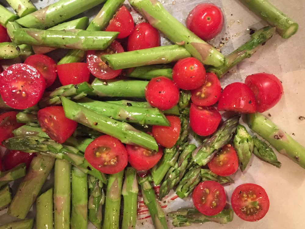 asparagus&tomatoes