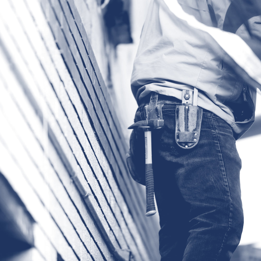Construction Worker Building