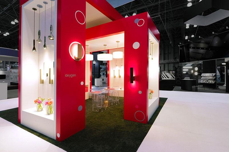 Complex Trade Show Booth That Creates an Interior Space