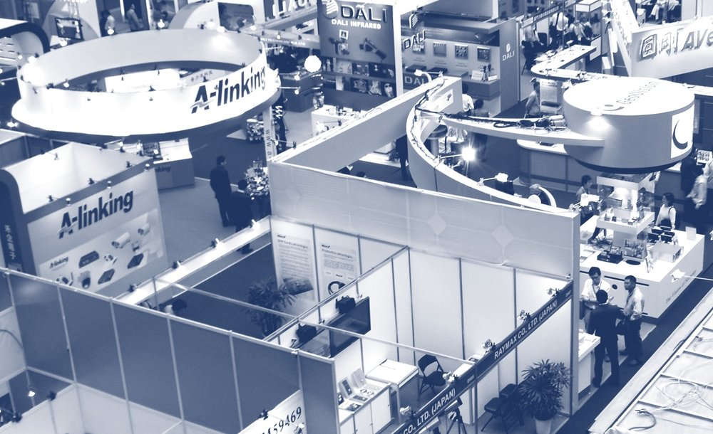 Overhead View of a Trade Show