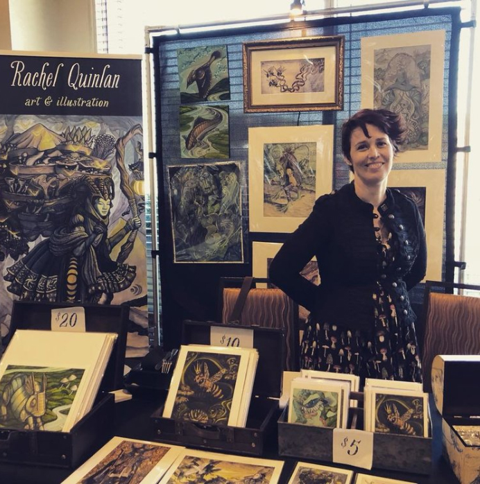 Rachel Quinlan - Rachel is an award-winning illustrator residing in Saint Clair Shores, MI.Her work is inspired by nature, folk lore and anything strange or unusual.
