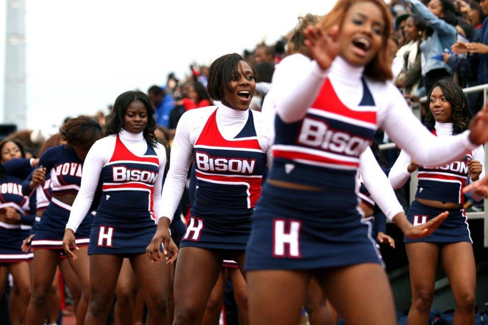 Photo by Kevin Coles - Howard Bison Cheerleaders