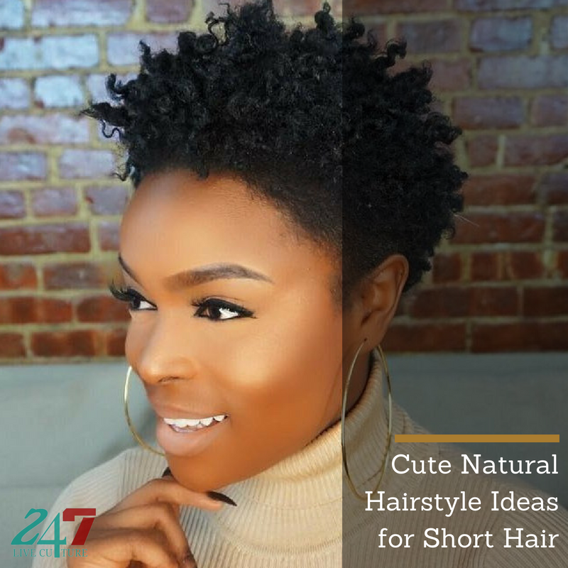 Cute Natural Hairstyle Ideas For Short Hair 247 Live Culture Magazine