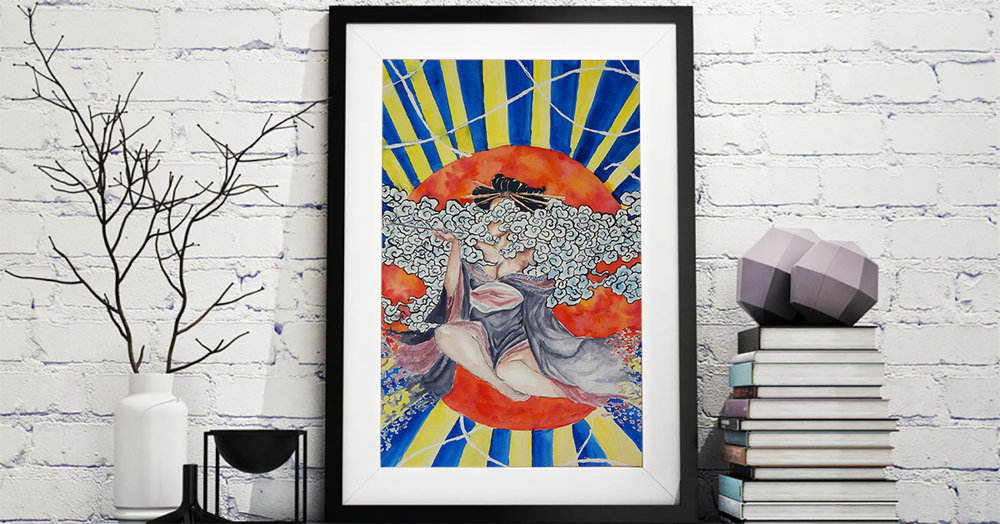 art-illustration-wall-art-frame-mock-up