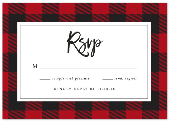 Buffalo Plaid RSVP