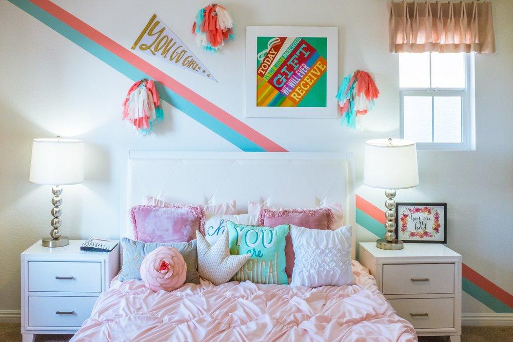 Fun Colorful Girls Bedroom