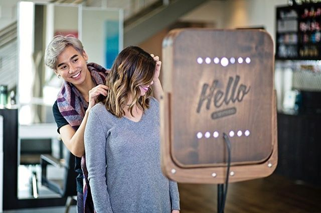 Capturing a great hair day at @tangerinesalons. 📸 #hellobooth