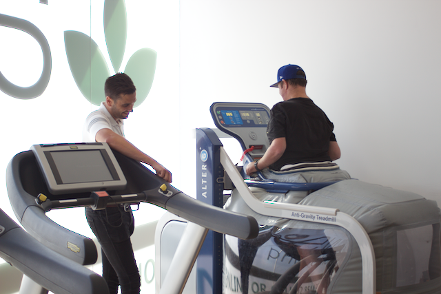 NDIS Alter G treadmill