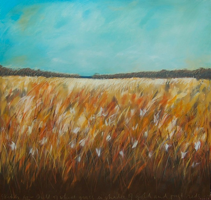 "Fields of Wheatgrass | 40 X 42"" | $8500"