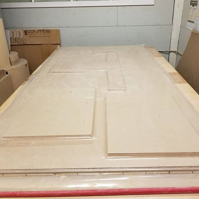 We LOVE our vacuum bag. So many possibilities! Here we're gluing up parts for a unique display cabinet. More pictures to come! . . . Homestead Cabinetmakers . . www.welovewoodworking.com  Custom Furniture & Cabinetry made in downtown Kalamazoo, Michigan  #customcabinets #customdesign #veneer #vacuum #oakwoodveneer #woodshop #woodworkersofmichigan #woodworkersofinstagram #madeinmichigan #woodworking