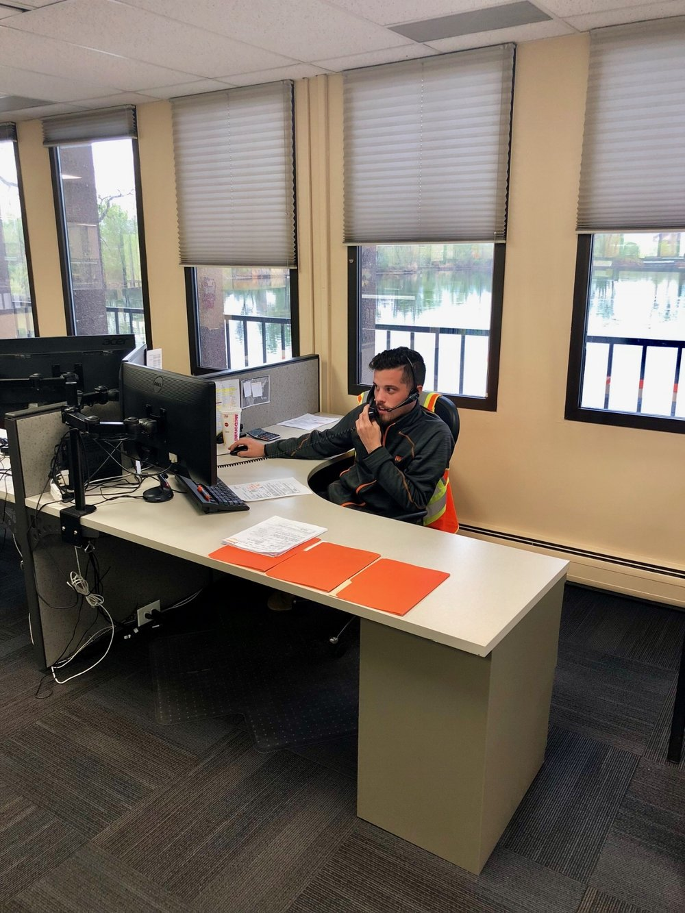 Our agent Joe hard at work!