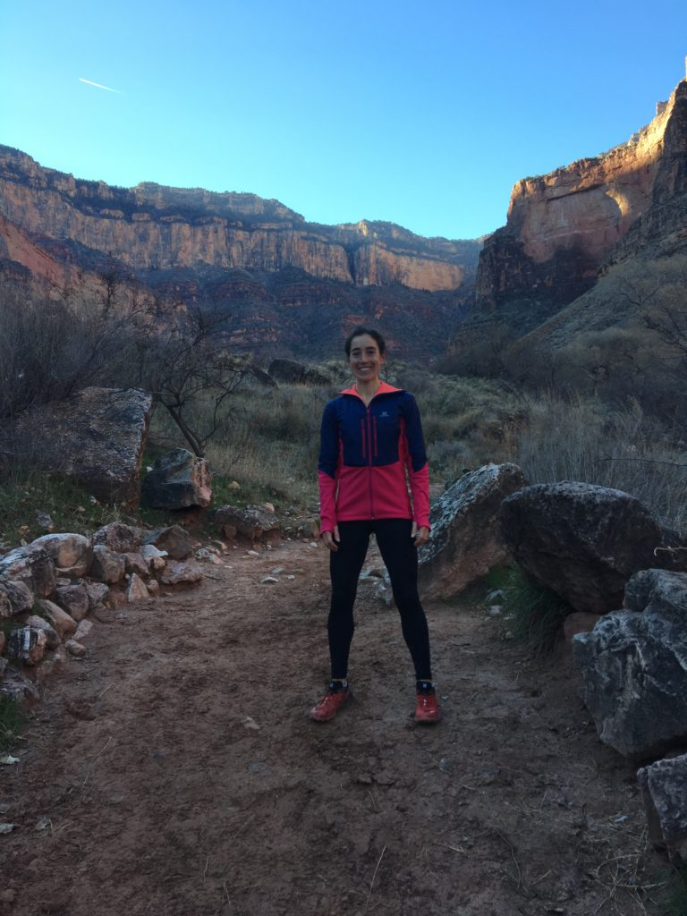 Morning run at the Grand Canyon. Down South Kaibab. Up Bright Angel. Way way up!
