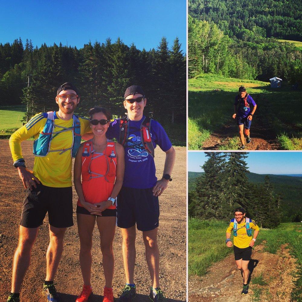 Long run at Poley Mountain with Colin and Nat