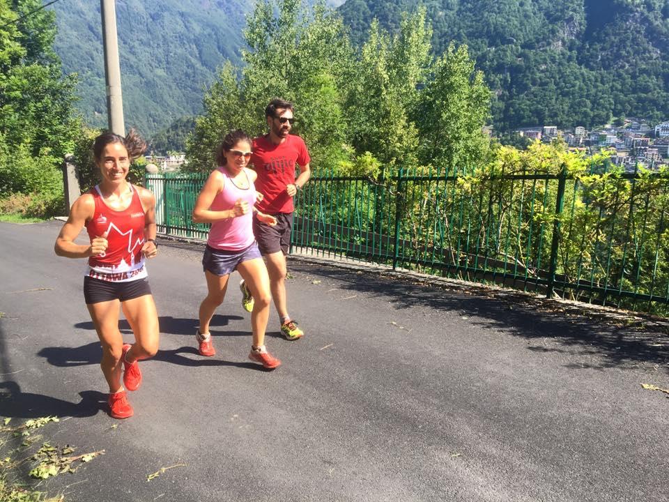 Shakeout run in Premana Italy With Marianne Hogan, Adrian Lambert and Matt-Setlack (taking photo)