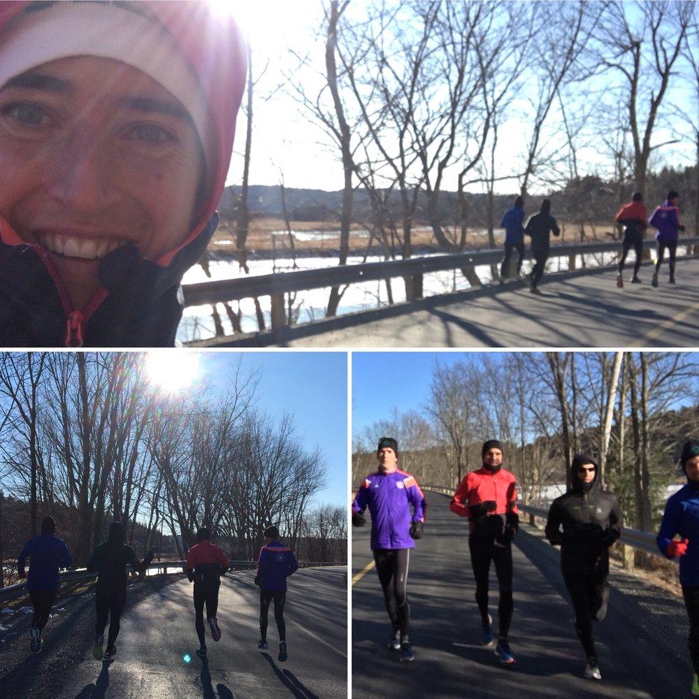 Training run with Dan, Colin, Remi, and Evan.