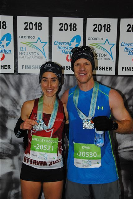 Post Race Medal Shot with my Hubby