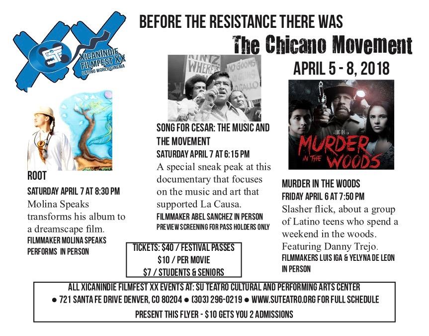 XicanIndie Film Fest Flyer - ROOT Screening
