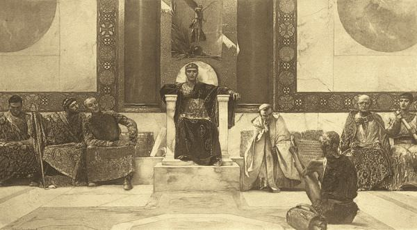Justinian and his court (attr: Benjamin Constandt)