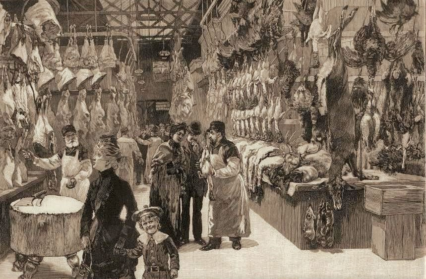 W. P. Snyder, Washington Market the Day Before Thanksgiving, Harpers Weekly, 1874