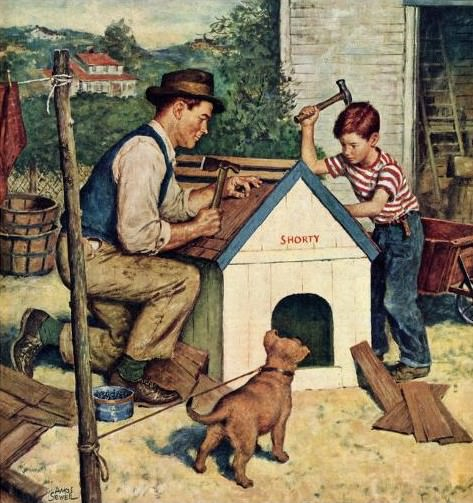 Amos Sewell: Building the Doghouse (1951)