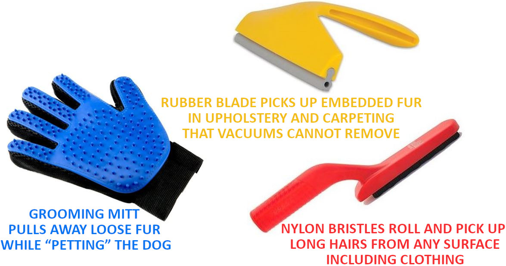 Rubber roller-type handled device that culls hair from fabrics…