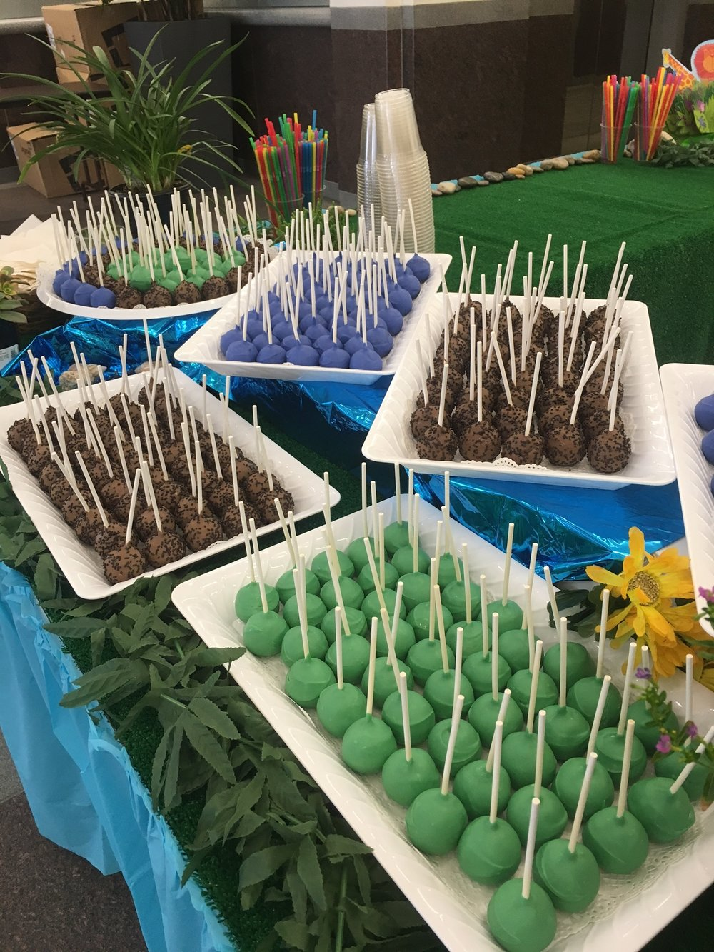 Earthday Celebration Cake Pops
