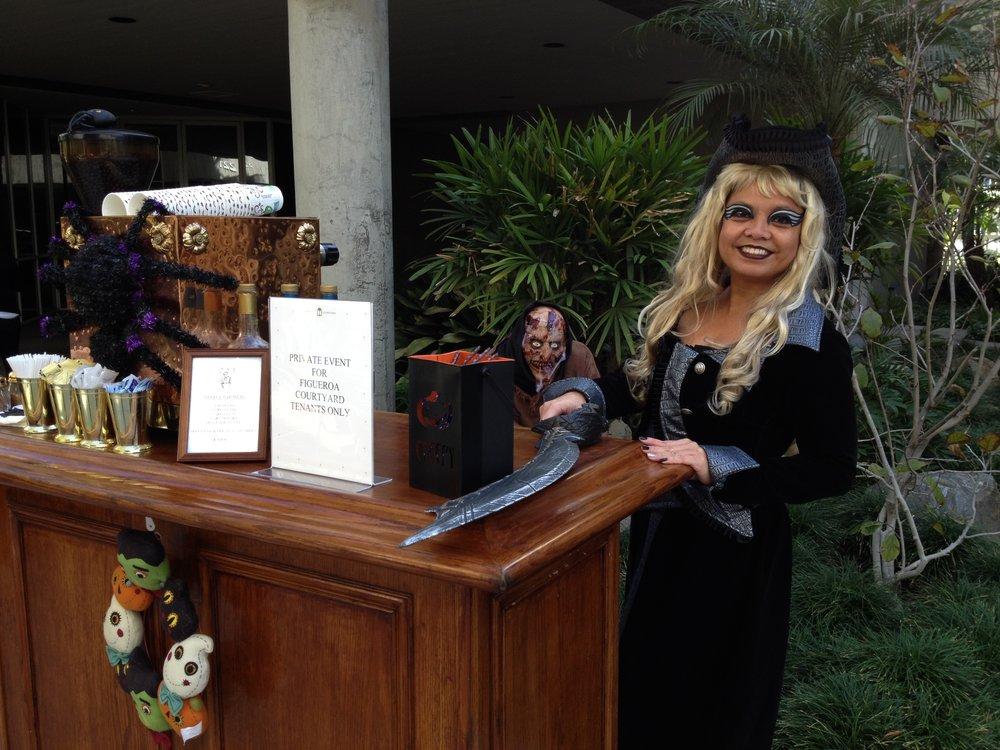 Halloween Cappuccino Cart
