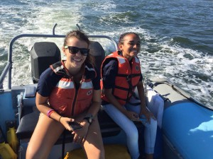 From left to right: Jessie (vessel ops senior) and Kimberly (vessel ops sophomore)