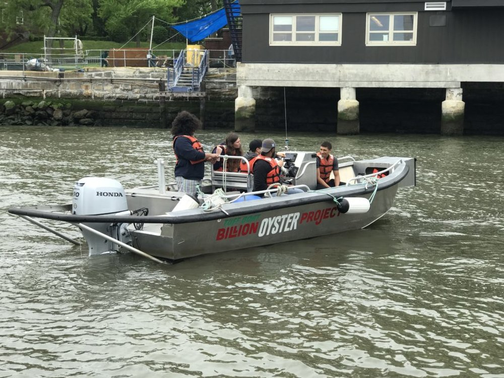 """essel Ops sophomores training on """"attractive nuisance """" aka tough boat at pier 101"""