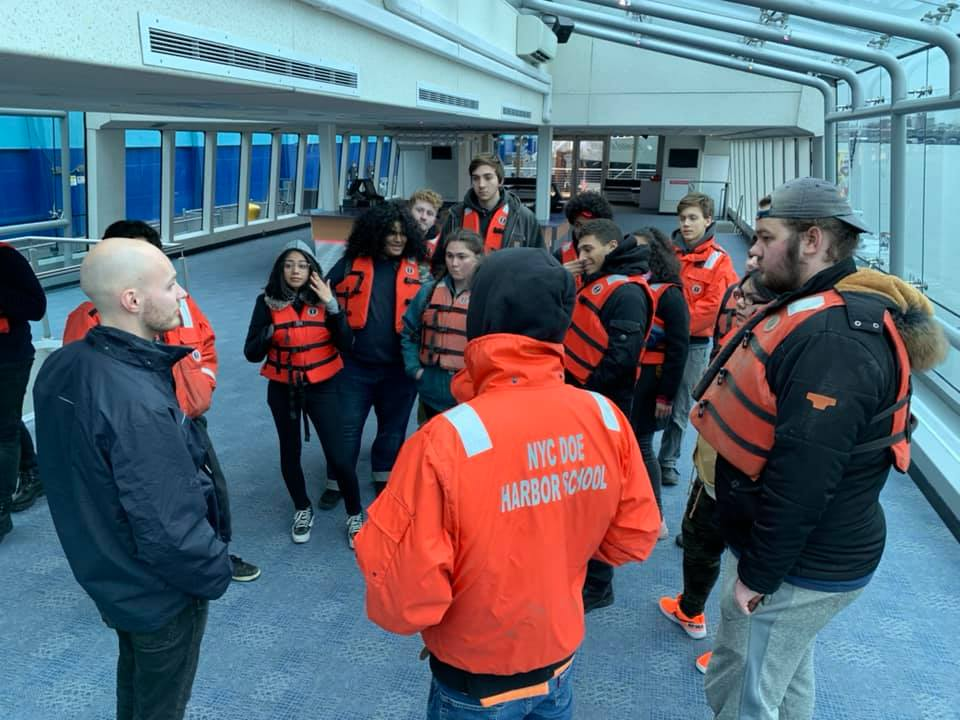 Thanks to our partners at Hornblower Cruises for taking on interns this Spring. Students got to meet Port Captain Don and tour the Hybrid. Thanks to Don and Shawn Ware for supporting these young mariners.