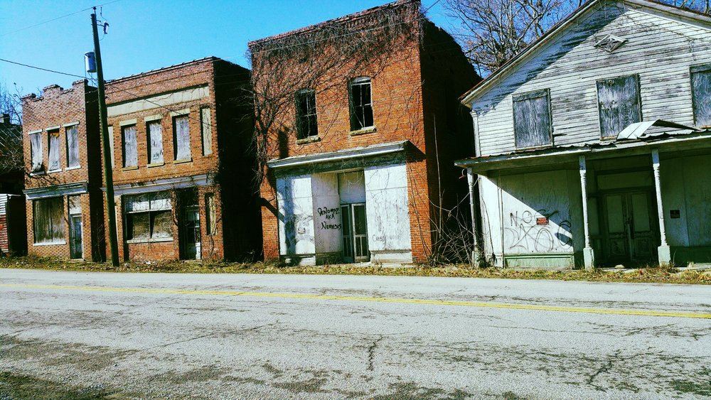 ":""Abandoned Town Union Level""   Photo By:  Fiona  Location:  Union Level, VA"