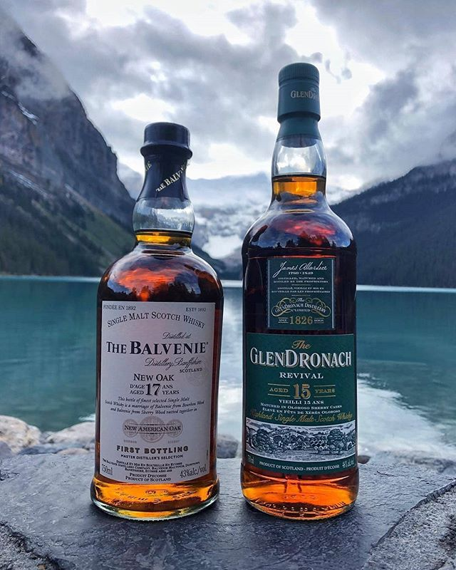 Pick your antidote 🥃🥃 📷 @knowyourwhisky  #whiskeylife #scotchwhisky #singlemalt #artofvisuals #theoutbound #mountaineers #creatorgrams #glendronach #balvenie