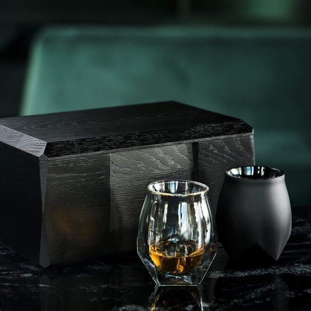 Norlan Glass Tumblers - The Norlan tumblers are double walled, seamless glasses with uniquely shaped bodies. The glass is expertly designed to aerate the whiskey and promote the appearance of hidden flavors, perfect for your hardcore whisky enthusiast.$60.00 CADSold as set's of twoLearn More
