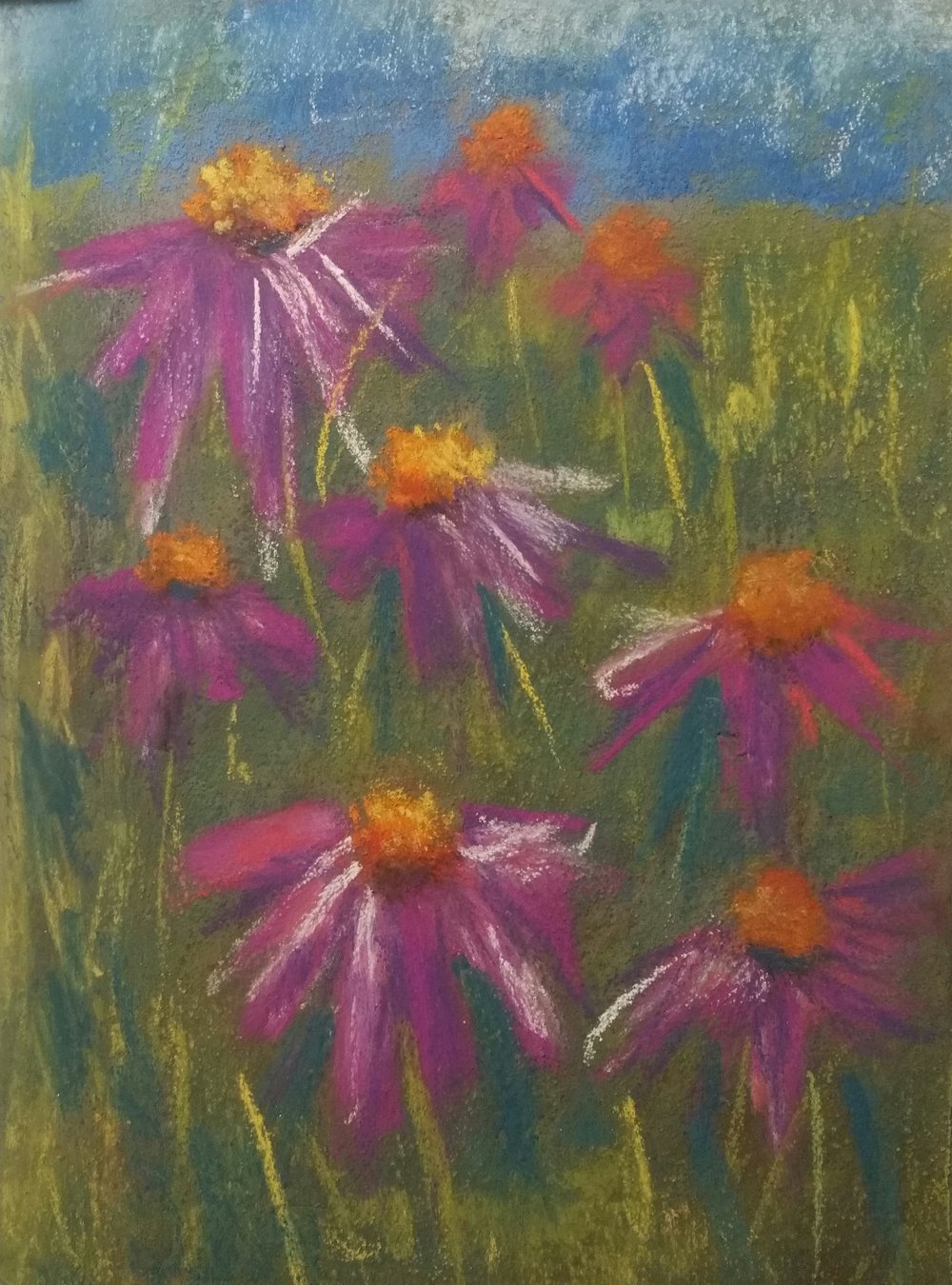 This was done in a pastel class I took last month at the Northville Art House. It's a new medium for me, and involved a lot of experimentation. It was frustrating as hell, but worth pushing through to figure out what papers I like and what all the different types of pastels can do.