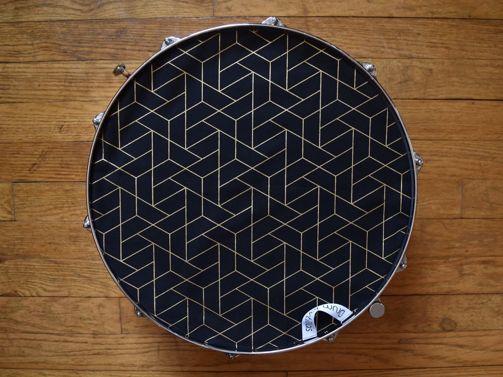 Black Geometric Honeycomb