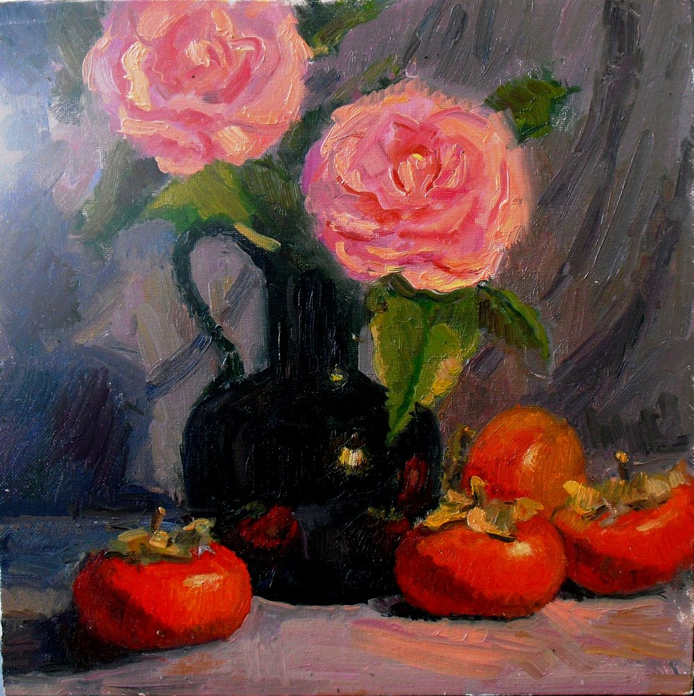Camelia and 4 Persimmons.jpg