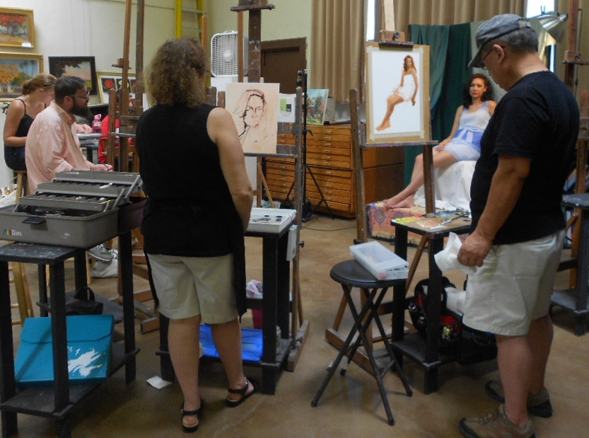 Regular weekly figure drawing and painting open studio sessions give artists an opportunity to practice working from direct observation.