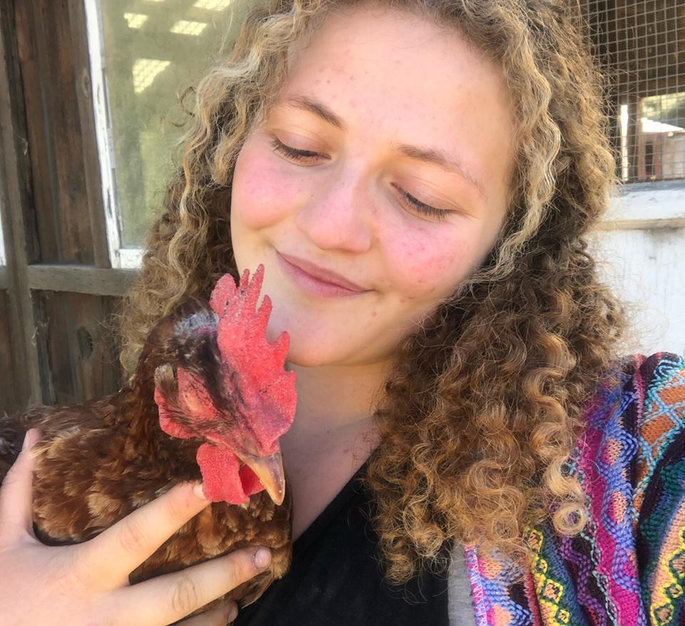 ZOE ROSENBERG - Zoe Rosenberg is a 16 year old animal rights activist. She is the founder of Happy Hen Animal Sanctuary, and an organizer for the grassroots animal liberation network, Direct Action Everywhere. Zoe travels the country giving speeches on behalf of animals. Most notably, in October of 2017, she gave a TEDx talk at age 15.